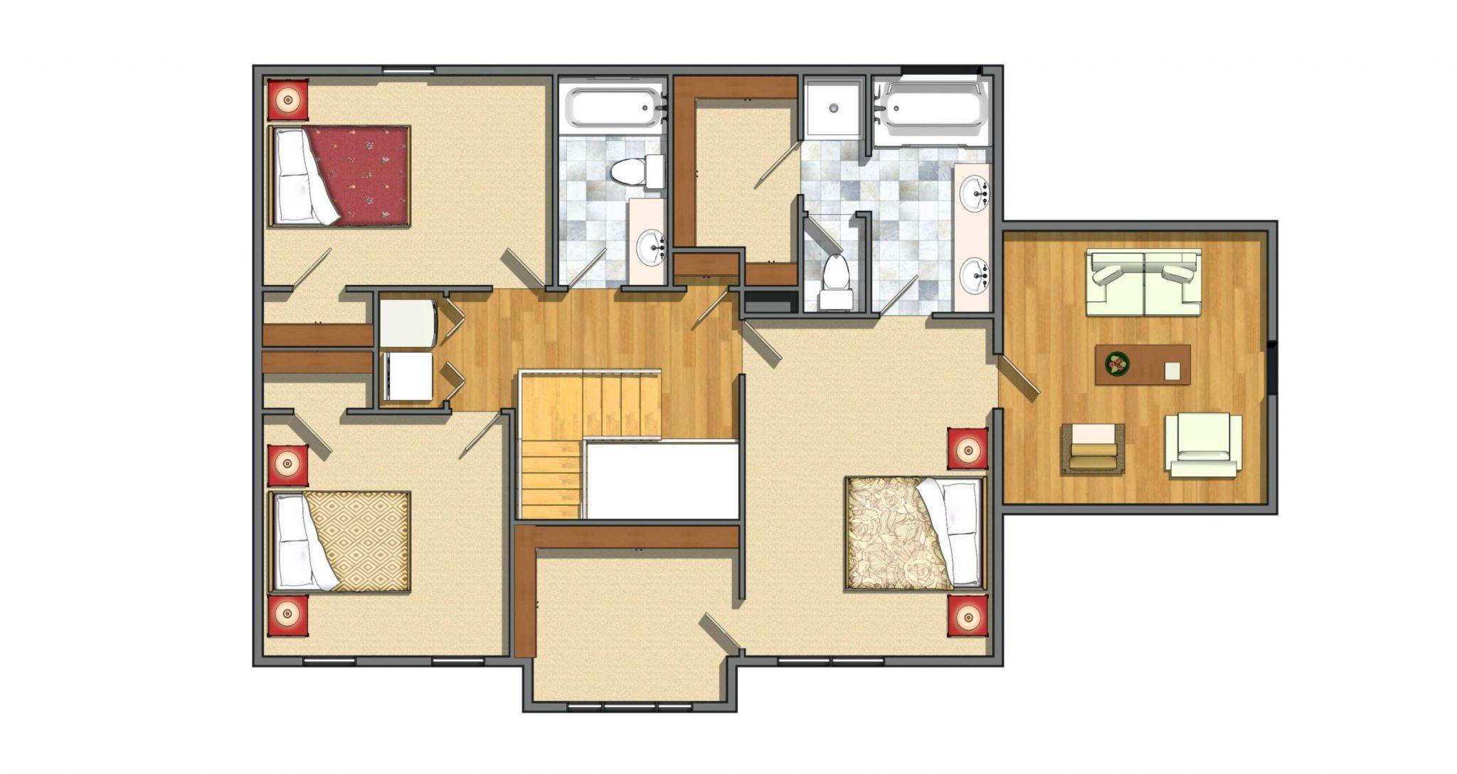 2nd Floor 3 Bedrooms