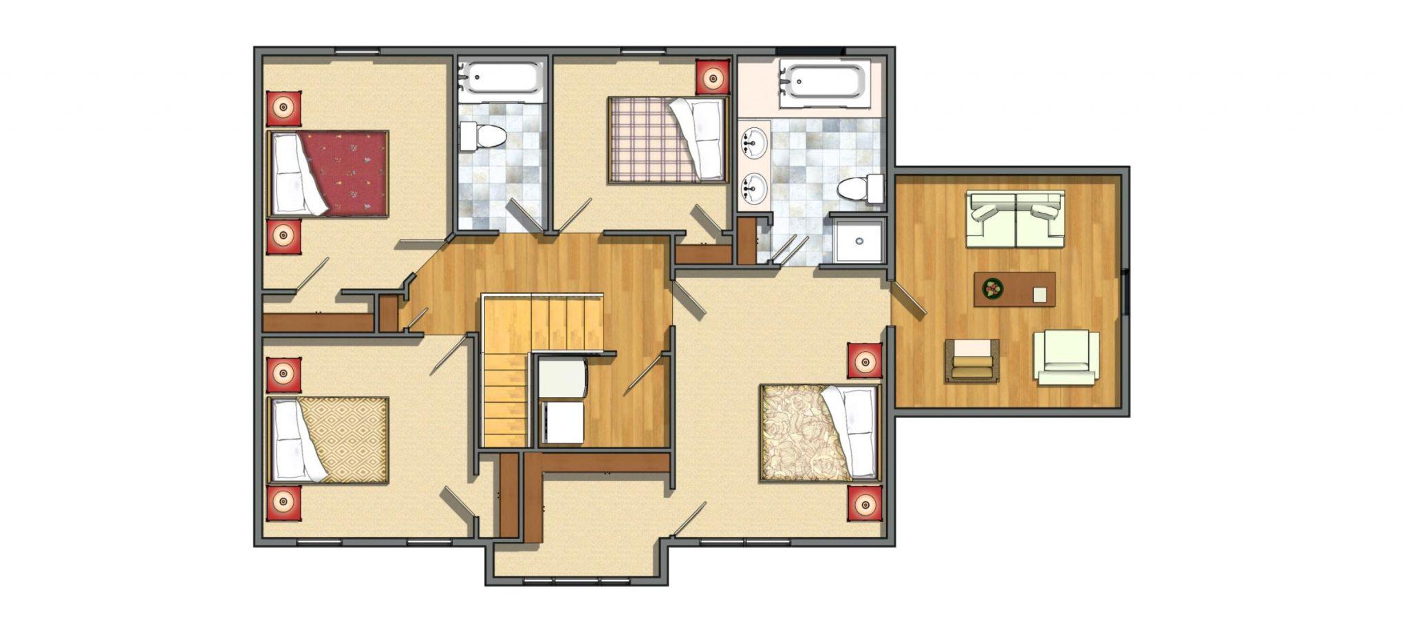 2nd Floor 4 Bedrooms